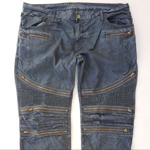 New Men ROBIN'S JEAN sz 40 The Show Moto Slim Jean